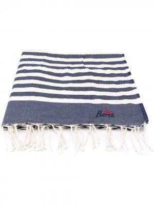 Пляжное полотенце в полоску Mc2 Saint Barth. Цвет: синий