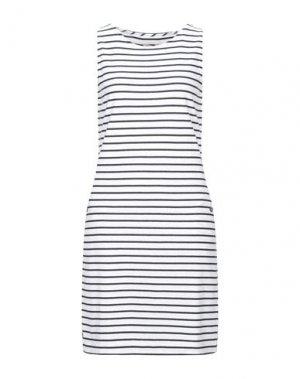 Короткое платье BARBOUR. Цвет: белый