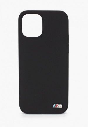 Чехол для iPhone BMW 12/12 Pro (6.1), M-Collection Liquid silicone Black. Цвет: черный