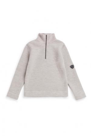 Пуловер бежевый из шерсти Bonpoint. Цвет: бежевый