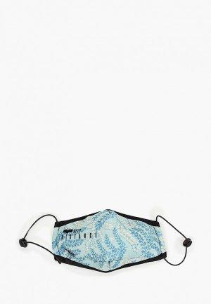 Маска для лица с фильтрующим элементом Routemark и перчатками Пушкинский музей – Веточки. Цвет: голубой