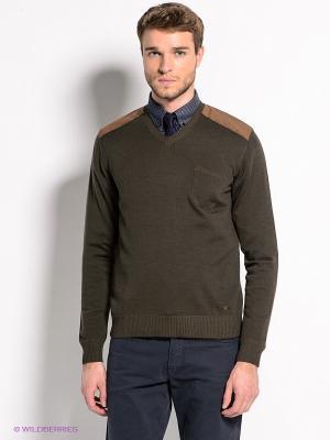 Пуловер Bramante. Цвет: коричневый