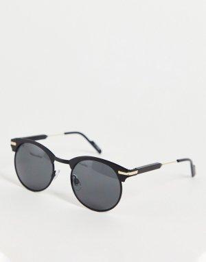 Черные круглые солнцезащитные очки в стиле унисекс Peak 80-Черный цвет Spitfire