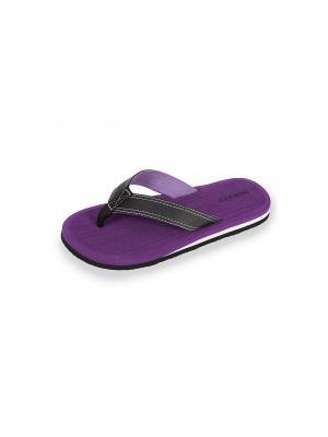 Шлепанцы Isotoner. Цвет: темно-фиолетовый