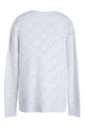 Пуловер из хлопка и льна Bonpoint. Цвет: белый