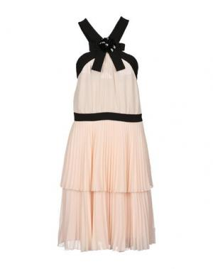 Платье до колена ANNA RACHELE BLACK LABEL. Цвет: светло-розовый