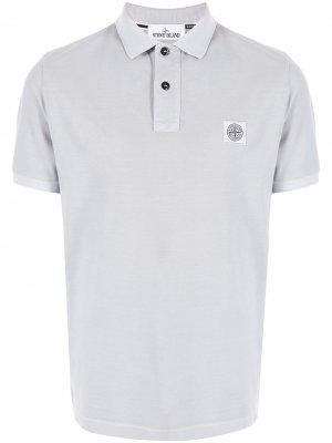 Рубашка поло с короткими рукавами Stone Island. Цвет: серый