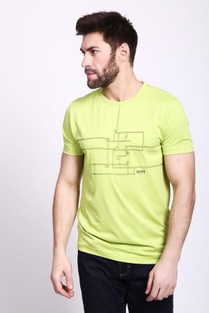 Футболкa Boss Green. Цвет: жёлтый