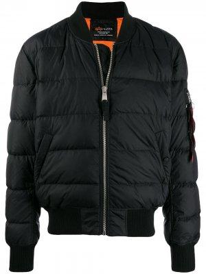 Куртка-пуховик MA-1 Alpha Industries. Цвет: черный