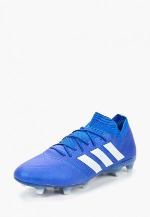 Бутсы adidas NEMEZIZ 18.1 FG. Цвет: синий