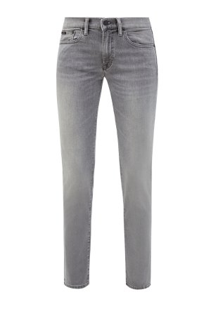 Выбеленные джинсы-skinny на низкой посадке POLO RALPH LAUREN. Цвет: серый