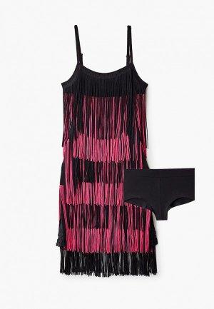Платье AltraNatura для латино-американской программы. Цвет: розовый