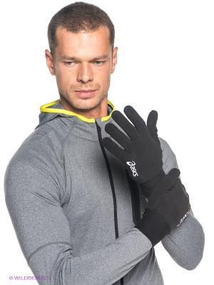 Перчатки FLEECE GLOVES ASICS. Цвет: черный