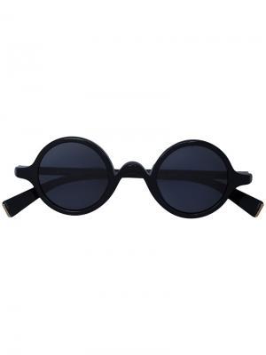 Солнцезащитные очки в круглой оправе Dolce & Gabbana Eyewear. Цвет: чёрный