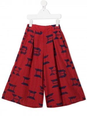 Широкие брюки с логотипом Bobo Choses. Цвет: красный