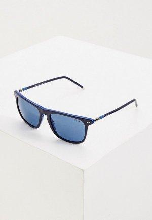 Очки солнцезащитные Polo Ralph Lauren PH4168 586580. Цвет: синий