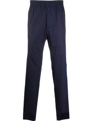 Прямые брюки с эластичным поясом Maison Flaneur. Цвет: синий