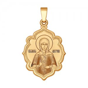 Кулон иконка «Святая блаженная Матрона Московская» SOKOLOV