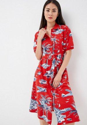 Платье Lacoste. Цвет: красный