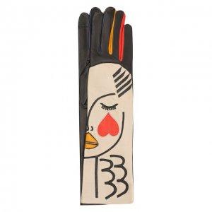 Кожаные перчатки Agnelle. Цвет: разноцветный