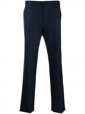 Классические брюки строгого кроя Corneliani. Цвет: синий