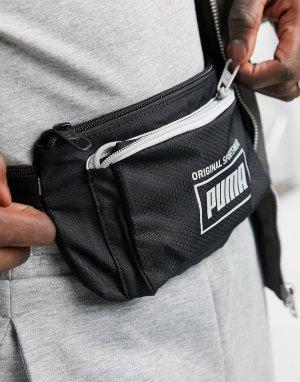 Черная сумка-кошелек на пояс PUMA Sole-Черный