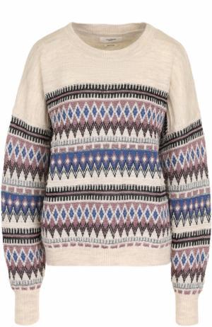 Шерстяной пуловер с металлизированной нитью Isabel Marant Etoile. Цвет: кремовый