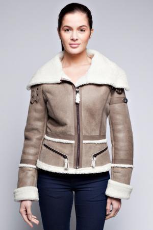 Куртка Giorgio. Цвет: бежевый