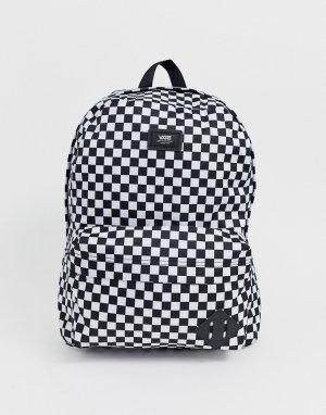 Черно-белый рюкзак в шахматную клетку Vans Old Skool III-Черный цвет