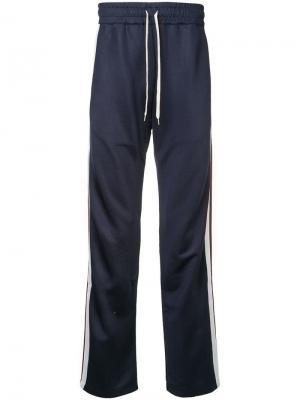 Спортивные брюки с боковыми полосками Band Of Outsiders. Цвет: синий