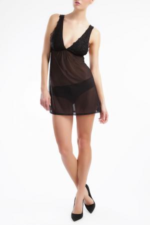 Ночная сорочка Ella Moss. Цвет: черный