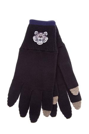 Перчатки KENZO. Цвет: черный
