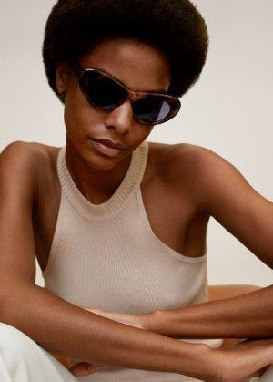 Солнцезащитные очки в стиле ретро под черепаху - Maria Mango. Цвет: шоколадный