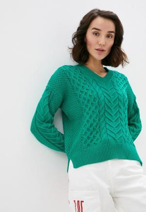 Пуловер United Colors of Benetton. Цвет: зеленый