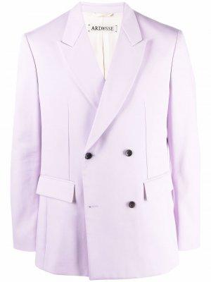 Двубортный пиджак ARDUSSE. Цвет: фиолетовый