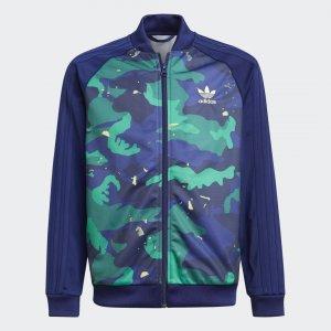 Олимпийка Camo-Print SST Originals adidas. Цвет: разноцветный