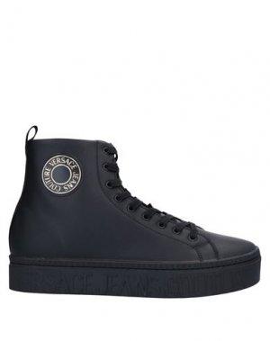 Полусапоги и высокие ботинки VERSACE JEANS COUTURE. Цвет: черный