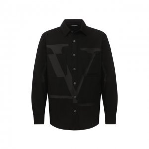 Джинсовая рубашка Valentino. Цвет: чёрный