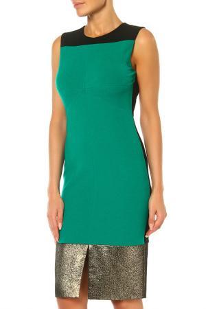 Платье DIANE VON FURSTENBERG. Цвет: зеленый