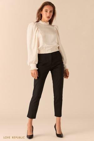 Зауженные классические брюки с высокой посадкой LOVE REPUBLIC