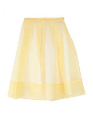 Юбка до колена ANDREA TURCHI. Цвет: желтый