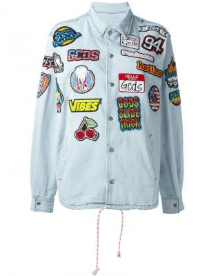 Multi patch denim jacket Gcds. Цвет: синий