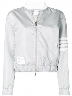 Куртка-бомбер Flyweight с 4 полосками на рукаве Thom Browne