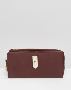 Кожаный складной кошелек Modalu. Цвет: красный