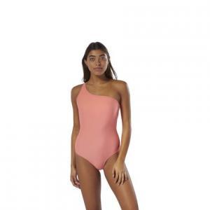 Купальник Swimwear One Shoulder Reebok. Цвет: stellar pink