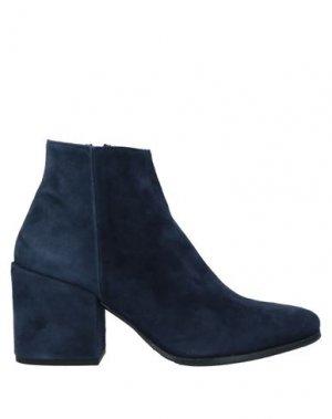 Полусапоги и высокие ботинки LORENZO MASIERO. Цвет: темно-синий