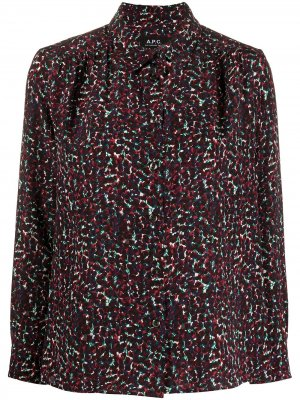 Рубашка Sutton с цветочным принтом A.P.C.. Цвет: фиолетовый