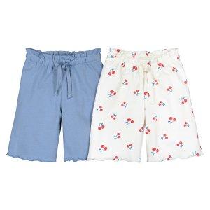 Комплект из 2 коротких штанишек LaRedoute. Цвет: другие
