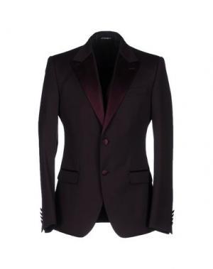Пиджак DOLCE & GABBANA. Цвет: красно-коричневый
