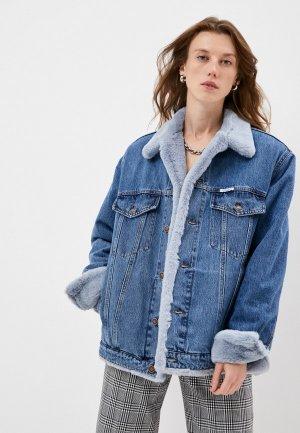 Куртка джинсовая Forte Dei Marmi Couture. Цвет: синий